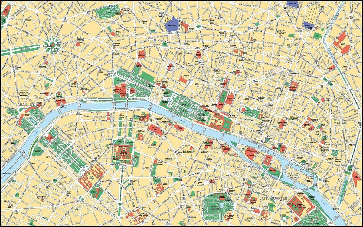 Paris map hd